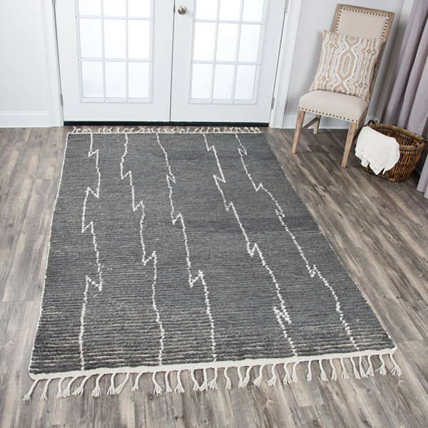 Rizzy Home Berkley Collection Adalynn Stripes Rectangular Rugs