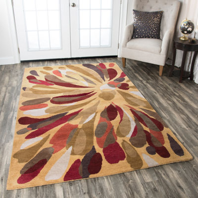 Rizzy Home Bradberry Downs Collection Jade Abstract Rugs