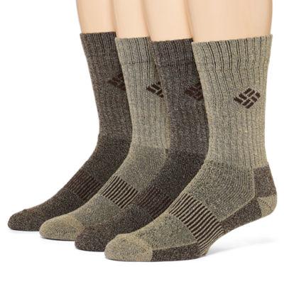 Columbia® 4-pk. Mens Crew Socks - Extended Size