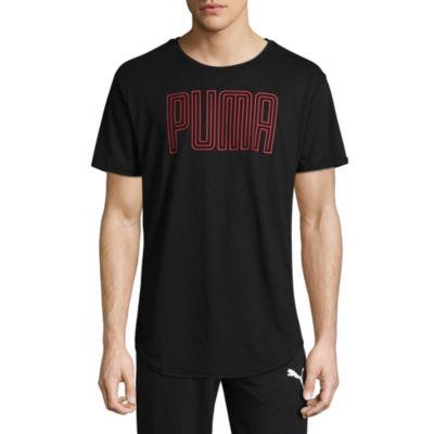 Puma Dri Release Graphic Short Sleeve Crew Neck T-Shirt