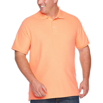 The Foundry Big & Tall Supply Co. Easy Care Quick Dry Short Sleeve Knit Polo Shirt Big and Tall