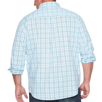 IZOD® Long Sleeve Button-Front Shirt-Big and Tall