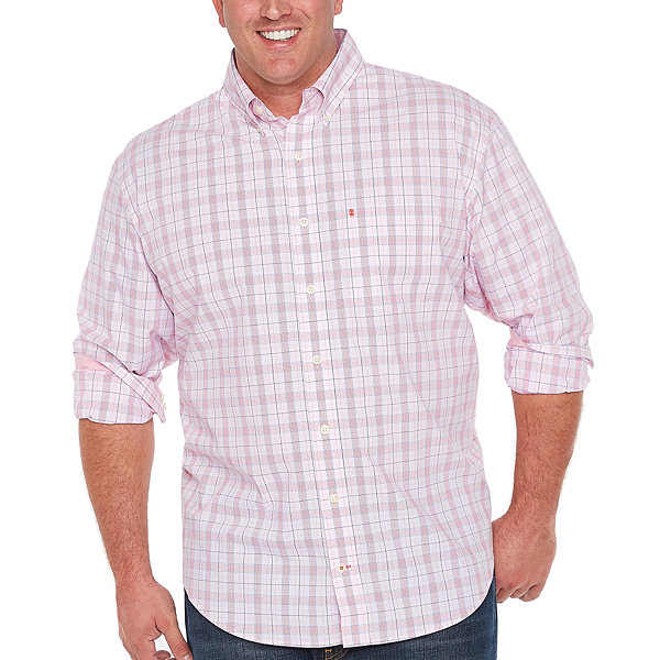 Izod long sleeve button front shirt big and tall jcpenney for Izod big and tall shirts