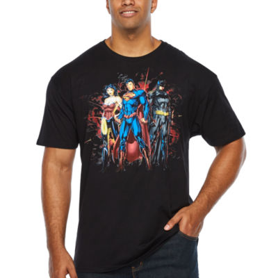 Justice League Short Sleeve Graphic T-Shirt-Big and Tall