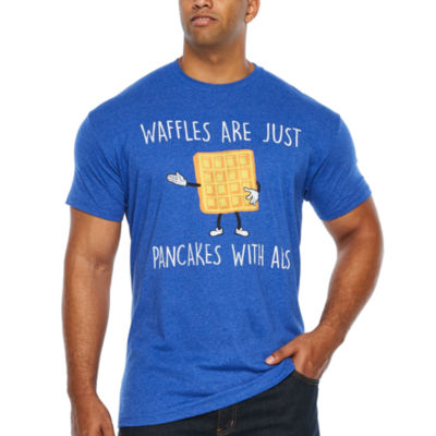 Waffles Are Pancakes With Abs Short Sleeve Graphic T-Shirt-Big and Tall