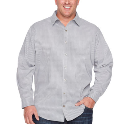 Van Heusen Traveler Stretch Non Iron Long Sleeve Checked Button-Front Shirt-Big and Tall
