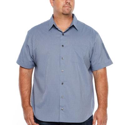 Van Heusen Flex Non Iron Woven Short Sleeve Button-Front Shirt-Big and Tall