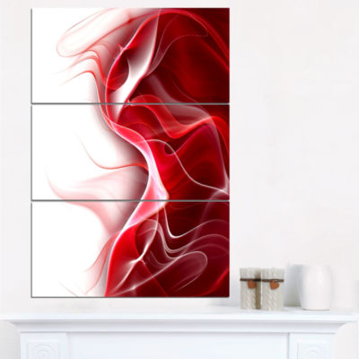 Designart 3D Fractal Abstract Design Canvas Art Print - 3 Panels