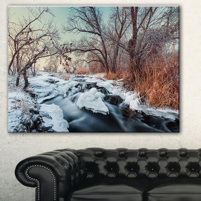 Designart Ukraine Winter Forest Landscape Photography Canvas Print