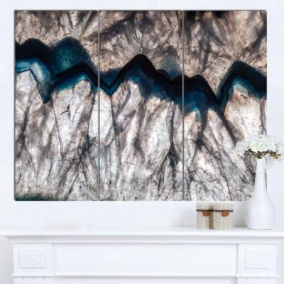 Designart Backlit Mineral Macro Abstract Canvas Wall Art Print - 3 Panels