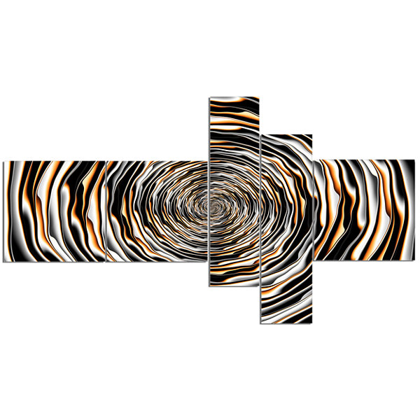 Designart Fractal Rotating Abstract Design Abstract Canvas Artwork - 5 Panels
