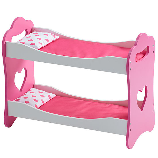 Olivia's Little World - Princess of Hearts Pop Pink 18 Inch Doll Bunk Bed