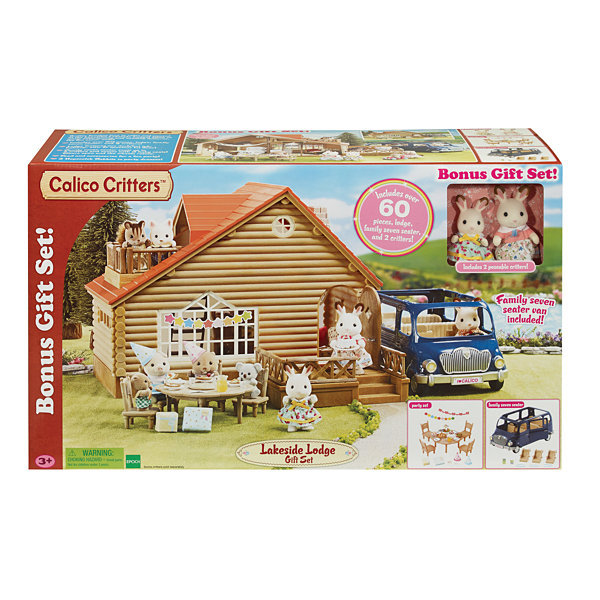 International Playthings - Calico Critters Lakeside Lodge Gift Set