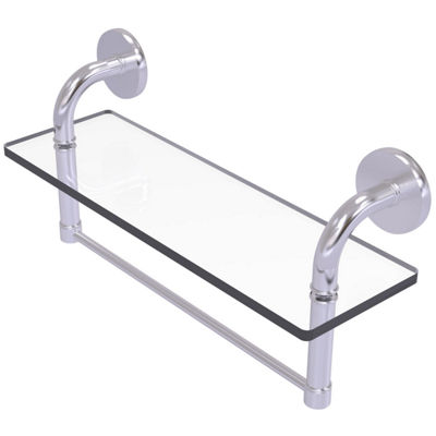 Allied Brass Remi Collection 16 IN Glass Vanity Shelf With Integrated Towel Bar