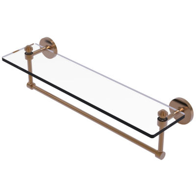 Allied Brass Southbeach Collection 22 IN  Glass Vanity Shelf  With Integrated Towel Bar