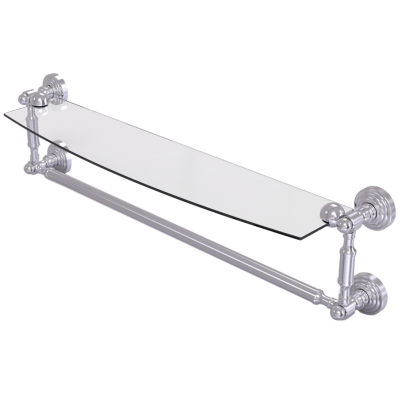 Allied Brass Waverly Place Collection 24 IN  GlassVanity Shelf  With Integrated Towel Bar