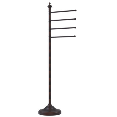 Allied Brass Floor Standing Towel Holder with 4 Pivoting Swing Arms