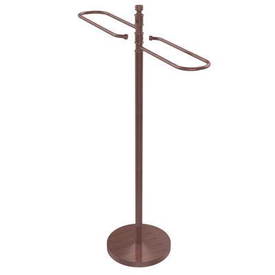 Allied Brass Contemporary Free Standing Floor BathTowel Valet
