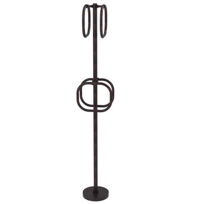 Allied Brass Towel Stand with 4 Integrated Towel Rings