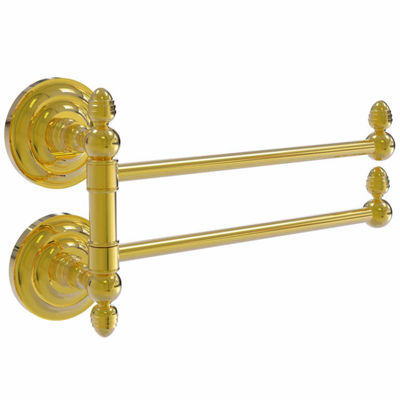 Allied Brass Que New Collection Towel Rail with 2Swing Arms