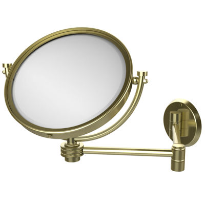 Allied Brass 8 Inch Wall Mounted Extending Make-UpMirror 3X Magnification With Dotted Accent
