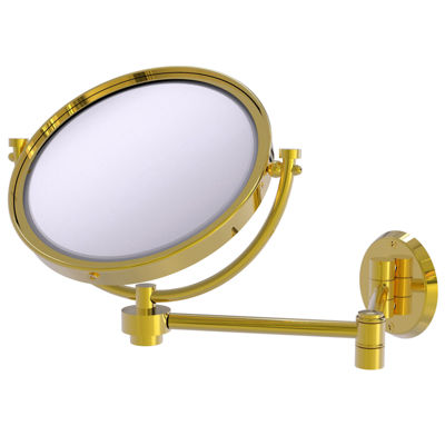 Allied Brass 8 Inch Wall Mounted Extending Make-UpMirror 4X Magnification