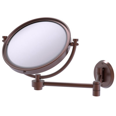 Allied Brass 8 Inch Wall Mounted Extending Make-UpMirror 3X Magnification With Twist Accent