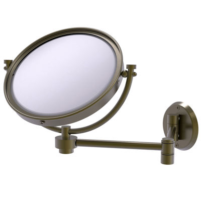 Allied Brass 8 Inch Wall Mounted Extending Make-UpMirror 5X Magnification
