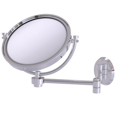 Allied Brass 8 Inch Wall Mounted Extending Make-UpMirror 3X Magnification
