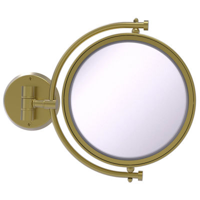 Allied Brass 8 Inch Wall Mounted Make-Up Mirror 4XMagnification