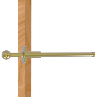 Allied Brass Traditional Retractable Pullout Garment Rod