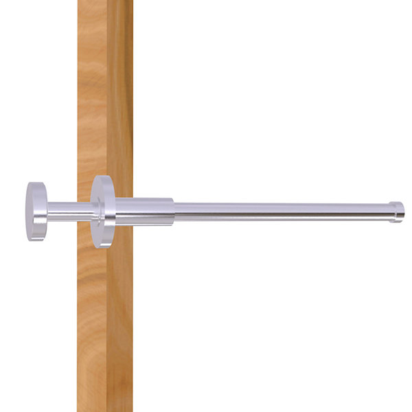 Allied Brass Modern Style Pullout Retractable Garment Rod