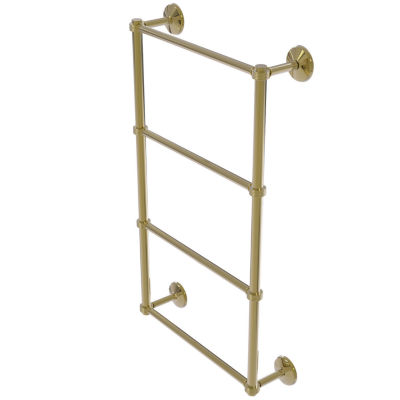 Allied Brass Monte Carlo Collection 4 Tier 24 InchLadder Towel Bar with Groovy Detail