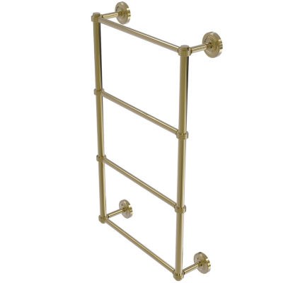Allied Brass Prestige Regal Collection 4 Tier 36 Inch Ladder Towel Bar with Groovy Detail