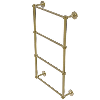 Allied Brass Prestige Skyline Collection 4 Tier 30Inch Ladder Towel Bar with Dotted Detail