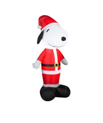 3.5' Inflatable Peanuts LED Lighted Snoopy Santa Claus Christmas Yard Art Decoration