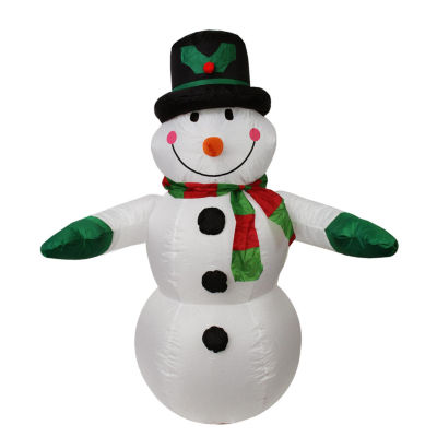 4' Inflatable Lighted Snowman with Top Hat Christmas Yard Art Decoration