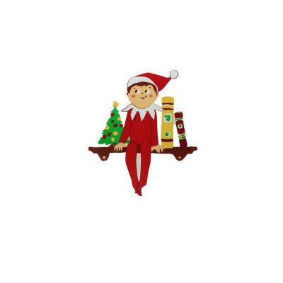 "5.75"" The Elf on the Shelf Jelz Christmas Window Cling"""