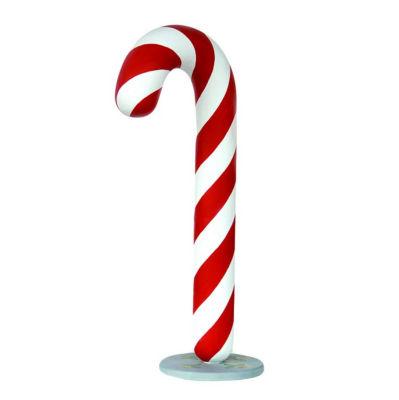 6' Commercial Grade Candy Cane Fiberglass Christmas Decoration