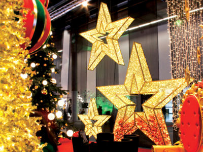 9.8' Giant Commercial Grade LED Lighted Waterloo Star Christmas Decoration Display - Warm White Lights