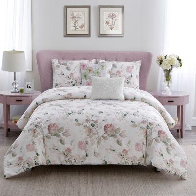 Wonder Home Floral Garden 5PC Cotton Printed Comforter Set