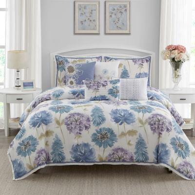 Wonder Home Monterey 7PC Cotton Printed ComforterSet