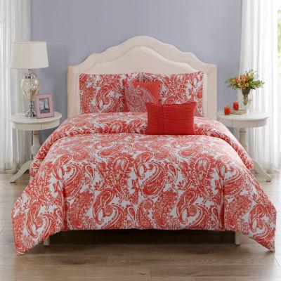 Wonder Home Renee 5PC Cotton Printed Comforter Set