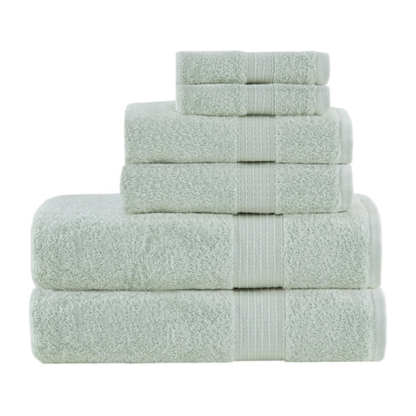 Madison Park Organic Cotton Solid 6 Pc. Bath Towel Set