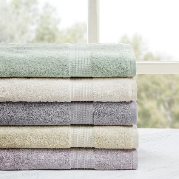 Madison Park Organic Cotton Solid 6-pc. Bath Towel Set - JCPenney