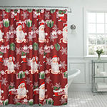 Ho Ho Santa Textured Shower Curtain