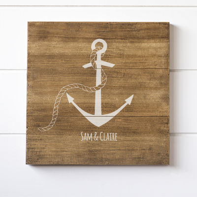 Cathy's Concepts Personalized Anchor Wood Sign