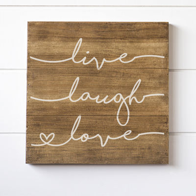 Cathy's Concepts Live Laugh Love Wood Sign