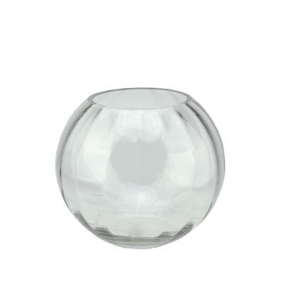 "7"" Round Segmented Transparent Glass Decorative Bowl"""
