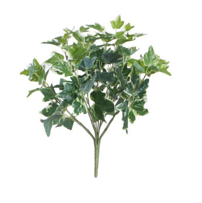 """19"""" Decorative Artificial Two Tone Green and White Sweet Potato Spring Floral Bush"""""""